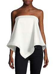 C Meo Collective Sunset Soon Asymmetrical Crepe Top White