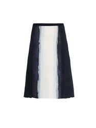 Vince Vertical Tie Dye Print Pleated Skirt