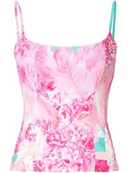 Halpern Printed Fitted Camisole Pink