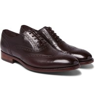 Paul Smith Cristo Burnished Leather Wingtip Brogues Burgundy