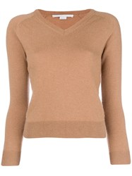 Stella Mccartney V Neck Sweater Brown
