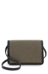 Linea Pelle 'Blue' Studded Faux Leather Crossbody Bag
