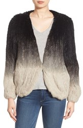 La Fiorentina Women's Genuine Rabbit Fur Ombre Jacket