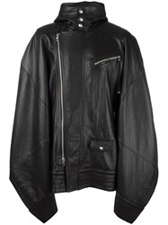 Diesel Black Gold Oversized Leather Coat Black