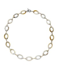 Dot Buffalo Horn Link Necklace 36' John Hardy Gold Silver