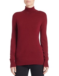 Lord And Taylor Long Sleeve Turtleneck Sweater Cabernet