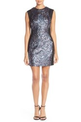 French Connection Sequin Bodycon Dress Gray