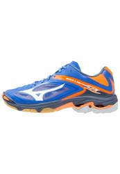 Mizuno Wave Lightning Z3 Volleyball Shoes Strong Blue White Orange Clown Fish