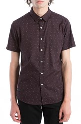 7 Diamonds Men's Beachwood Canyon Woven Shirt Wine