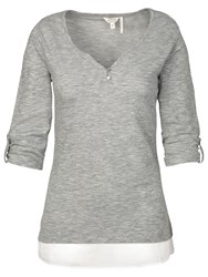 Fat Face Wilson Tunic Top Grey Marl