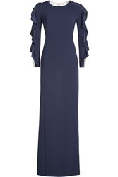Jenny Packham Crepe Gown With Lace Back