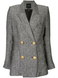 Smythe Unstructured Blazer Grey