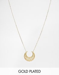Regal Rose Eastern Crescent Necklace