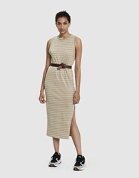 Which We Want Jaclyn Ribbed Sleeveless Dress Taupe