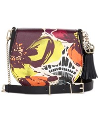 Trina Turk Toulon Crossbody Saddle Bag Floral Multi