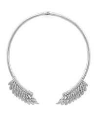 Bcbgeneration Birds Of A Feather Silvertone Collar Necklace