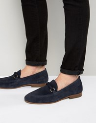 Hudson H By Renzo Suede Loafers Navy