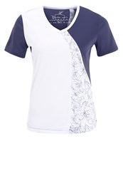 Limited Sports Blurry Print Tshirt White Blurry Grisaille