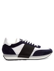 Moncler Horace Low Top Trainers Navy Multi