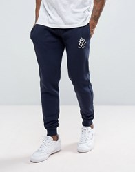 Gym King Skinny Fit Joggers In Navy Navy