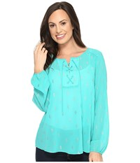 Ariat Sugar Tunic Swift Water Women's Blouse Green