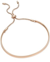 Giani Bernini Adjustable Bracelet In 14K Rose Gold Over Sterling Silver