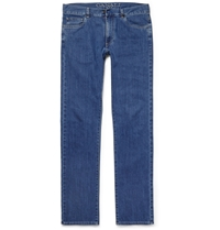 Canali Regular Fit Stretch Denim Jeans Blue