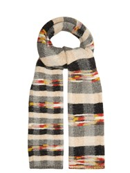 Missoni Checked Wool Blend Scarf Multi
