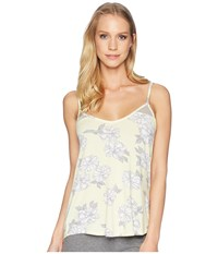 Pj Salvage P.J. Sunshine Days Floral Tank Top Pale Yellow Sleeveless