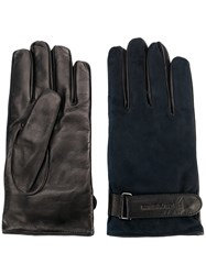 Emporio Armani Contrast Fitted Gloves Blue