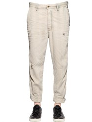 Diesel 18Cm Carrot Striped Denim Chino Pants