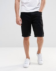 Lee Straight Denim Shorts Clean Black Clean Black