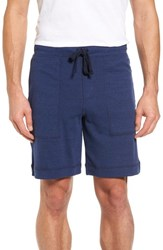 Alo Yoga Men's Revival Relaxed Knit Shorts Navy Triblend