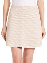 Theory Teslia Knit Mini Skirt Ivory Multi