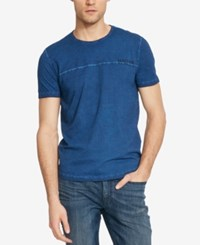 Kenneth Cole Reaction Men's Graphic Print Logo T Shirt Deep Atlantic