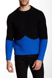 Hunter Original Moustache Wool Jumper Blue