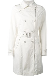 Herno Double Breasted Trench Coat Women Cotton Polyamide Polyester Acetate 40 Nude Neutrals