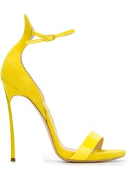 Casadei High Heel Sandals Yellow And Orange