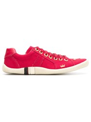 Osklen Low Top Lace Up Sneakers Leather Red