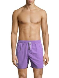 Saks Fifth Avenue Collection Delave Swim Shorts Purple