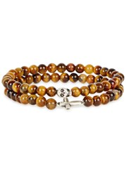 Simon Carter Brown Tigerseye Beaded Bracelets