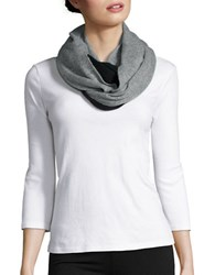 Lord And Taylor Colorblocked Cashmere Scarf Grey Black