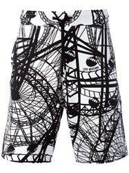 Love Moschino 'London Eye' Print Shorts Black
