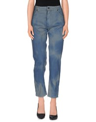 Superfine Denim Denim Trousers Women Slate Blue