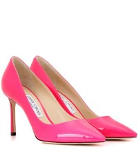 Jimmy Choo Romy 85 Patent Leather Pumps Pink