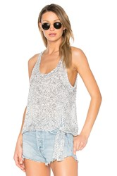 Bella Dahl Side Tie Tank Gray