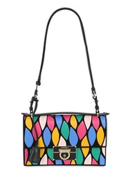 Salvatore Ferragamo Aileen Patchwork Leather Shoulder Bag