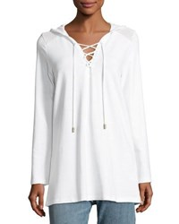 Athena Alisa Hooded Tunic Coverup White
