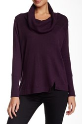 525 America Cowl Neck Sweater Purple