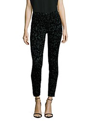 J Brand Printed Mid Rise Jeans Olive